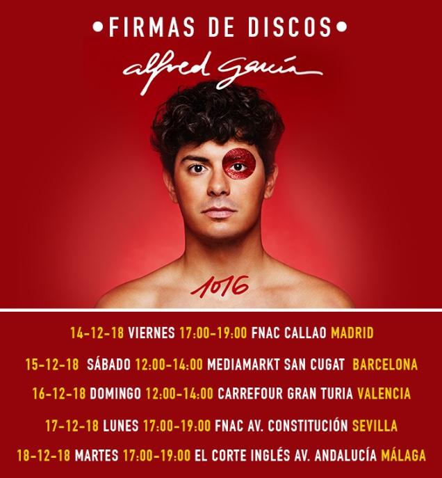 Firmas de discos Alfred García